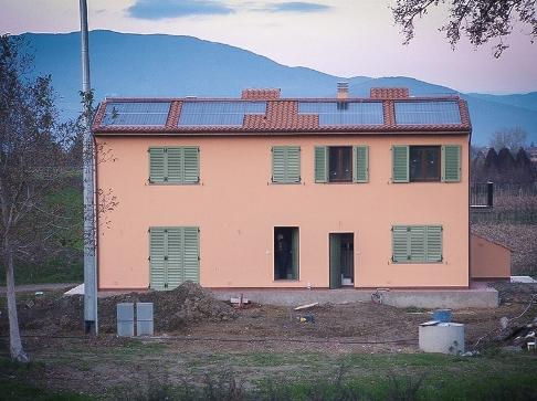 Impianto fotovoltaico integrato, Pistoia.