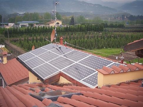 Impianto fotovoltaico per abitazione civile.
