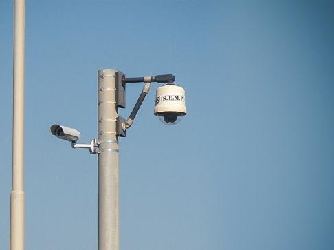 """Telecamera fissa, palo dome in banchina """"Città di Massa"""" est."""