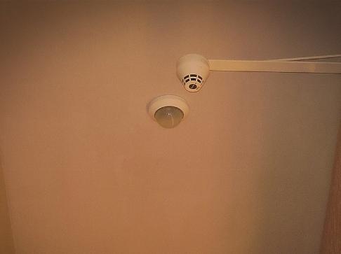 Sensore antincendio in Palazzo Vecchio a Firenze.
